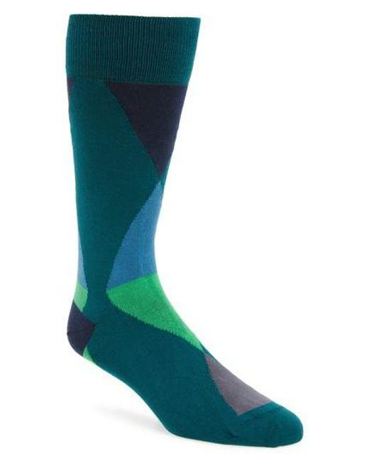 Paul Smith | Blue Geo Geometric Socks for Men | Lyst