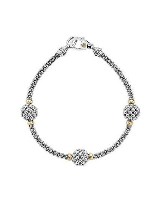 Lagos - Metallic 'caviar Forever' Ball Station Bracelet - Lyst