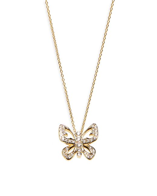 Roberto Coin - Metallic Diamond Butterfly Pendant Necklace - Lyst