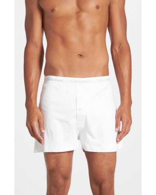 CALVIN KLEIN 205W39NYC - 3-pack Cotton Boxers, White for Men - Lyst