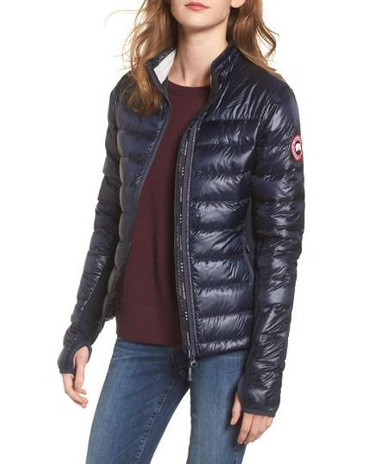Canada Goose - Blue 'hybridge Lite' Slim Fit Mixed Media Down Jacket - Lyst