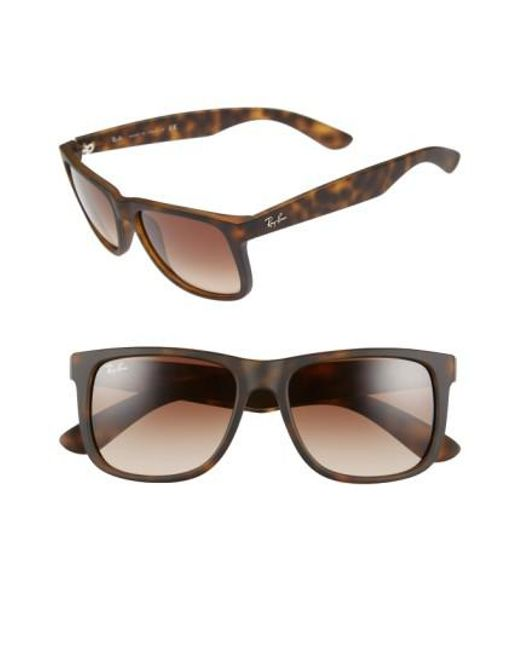 Ray-Ban | Brown 'justin Classic' 54mm Sunglasses for Men | Lyst
