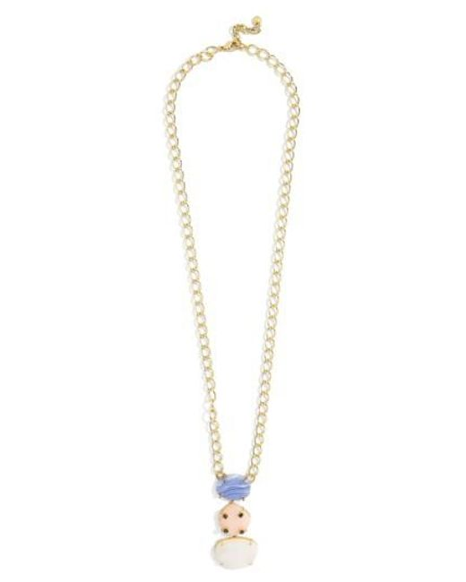 BaubleBar | Metallic Karmah Pendant Necklace | Lyst