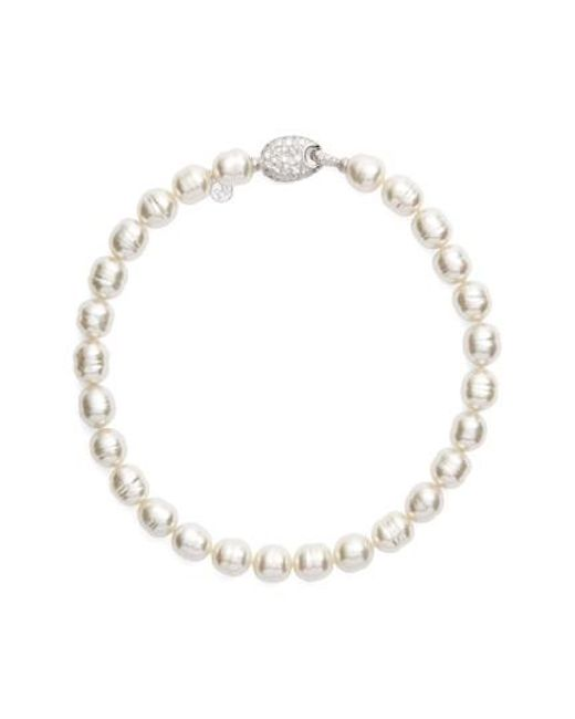 Majorica | White 14mm Baroque Simulated Pearl Strand Necklace | Lyst