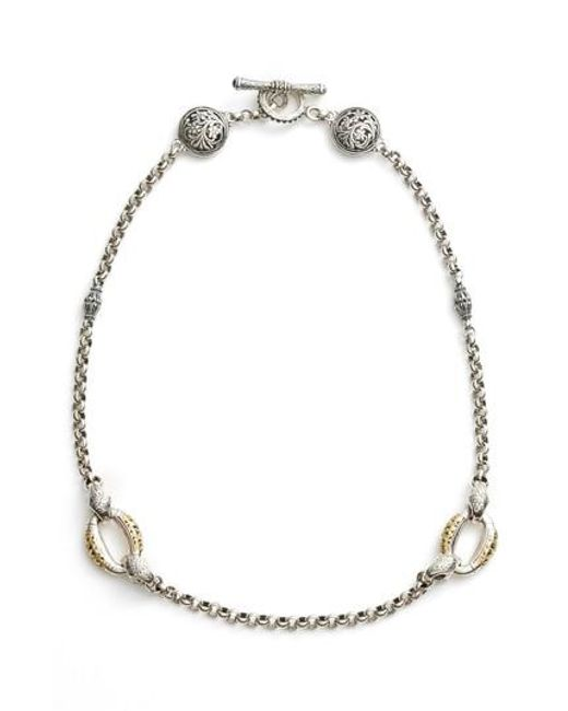Konstantino - Metallic Classics Daphne 18k Yellow Gold & Sterling Silver Station Necklace - Lyst