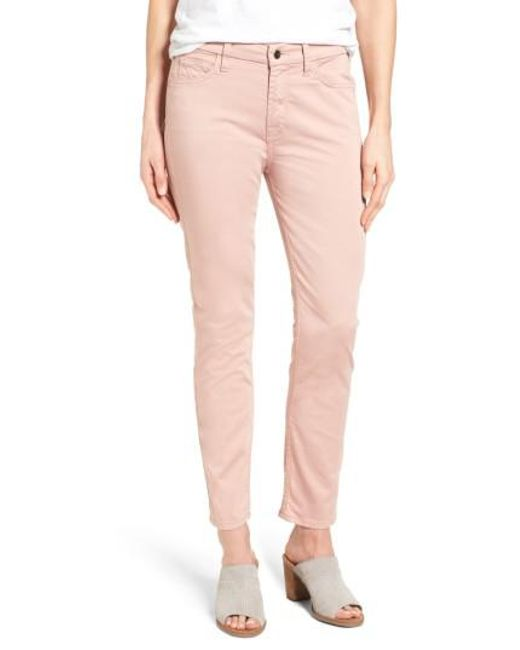 Jen7 | Pink Colored Stretch Ankle Skinny Jeans | Lyst