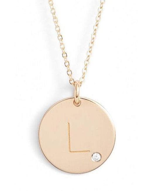 Nashelle | Metallic Diamond Initial Pendant Necklace | Lyst