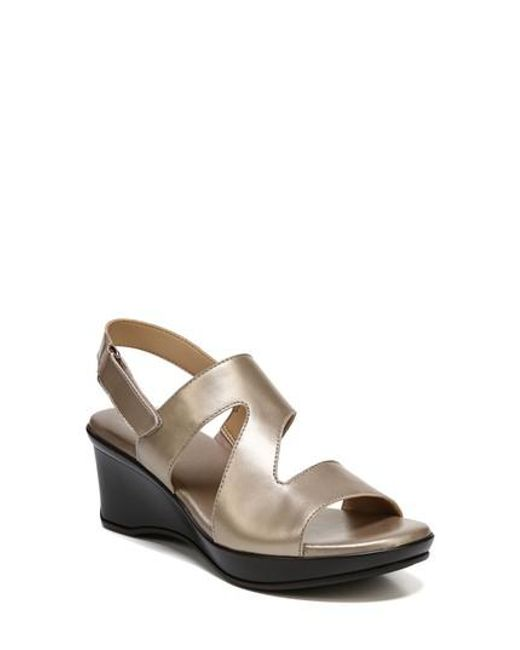 Naturalizer - Multicolor Valerie Wedge Sandal - Lyst