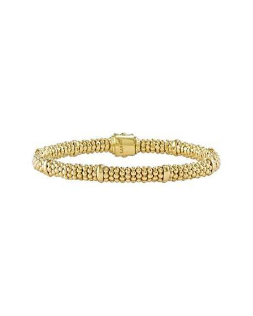 Lagos | Metallic Caviar Rope Bracelet | Lyst