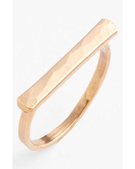 Nashelle   Metallic Ija Bar Ring   Lyst