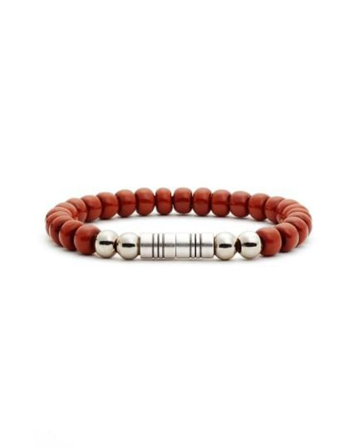 Torino Leather Company | Brown Glass Bead Bracelet | Lyst