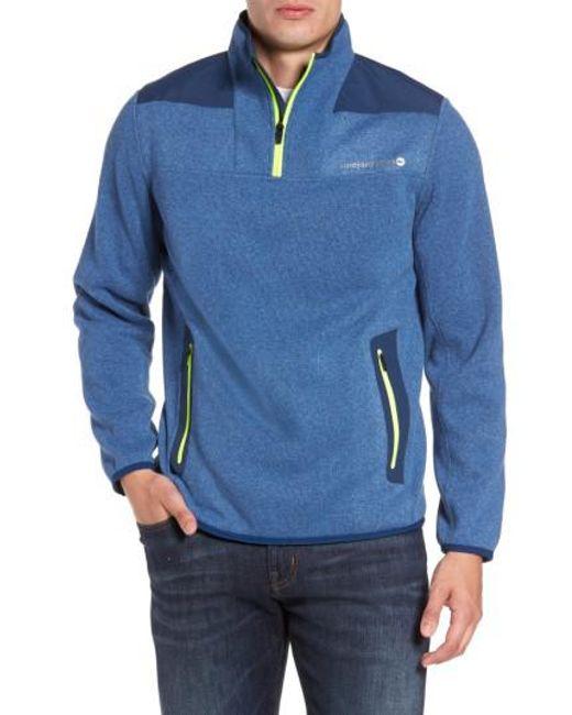 Vineyard Vines | Blue Shep Quarter Zip Fleece Sweater for Men | Lyst