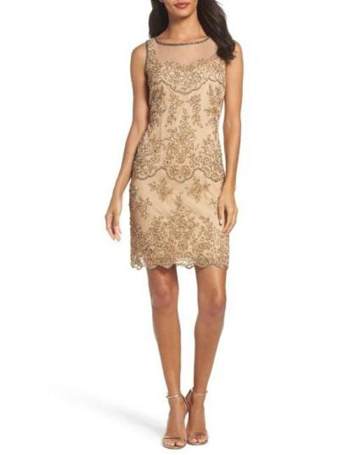 Pisarro Nights | Natural Embellished Dress | Lyst