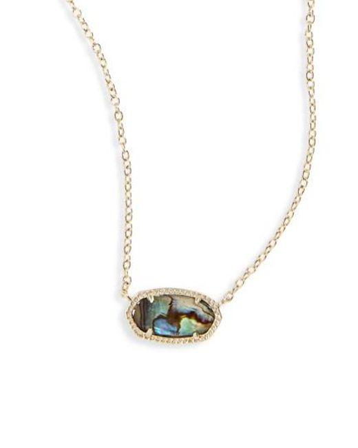 Kendra Scott | Blue Elisa Pendant Necklace | Lyst