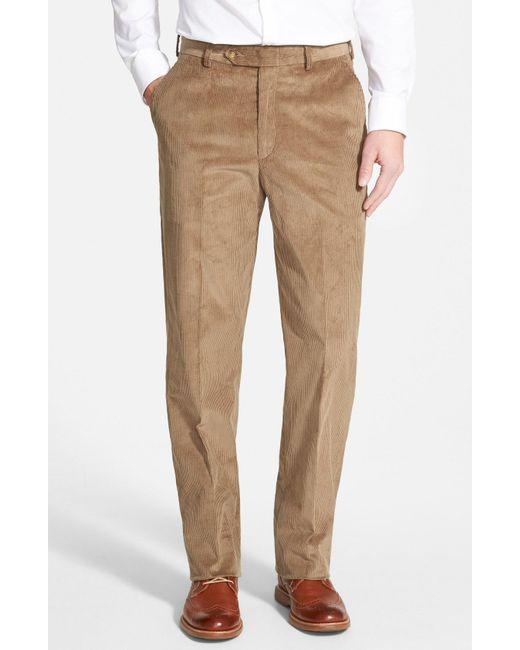 Berle - Multicolor Flat Front Corduroy Trousers for Men - Lyst