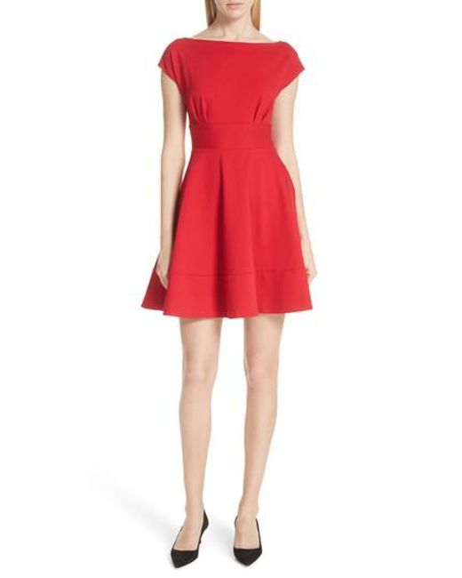 Kate Spade - Red Ponte Fiorella Fit & Flare Dress - Lyst