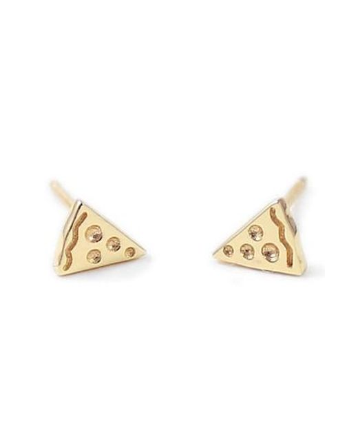 Kris Nations - Metallic Pizza Stud Earrings - Lyst