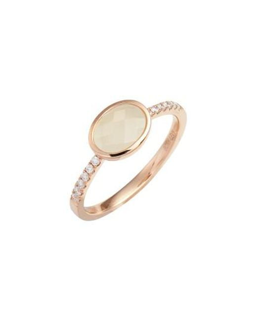 Bony Levy | Metallic Iris Semiprecious Stone & Diamond Ring (nordstrom Exclusive) | Lyst