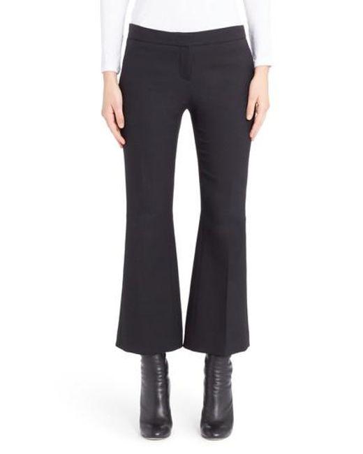 Alexander McQueen - Black Kickback Crop Flare Pants - Lyst