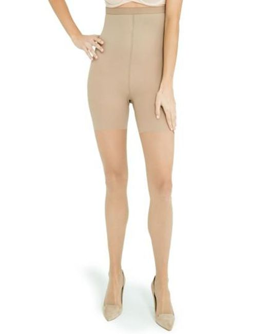 Spanx | Natural Spanx Luxe High Waist Shaping Pantyhose | Lyst
