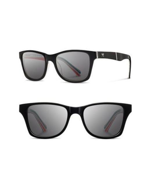 Shwood | Black 'canby - Pendleton' 54mm Polarized Sunglasses for Men | Lyst