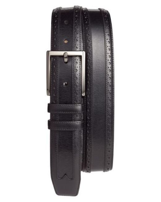 Mezlan - Black Leather Belt for Men - Lyst