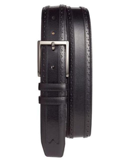 Mezlan - Black Leather Belt for Men - Lyst