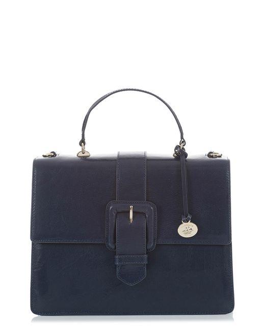 Brahmin - Blue Medium Francine Leather Satchel - Lyst