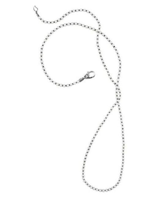 Lagos - Metallic 'luna' Long Micro Bead & Pearl Necklace - Lyst