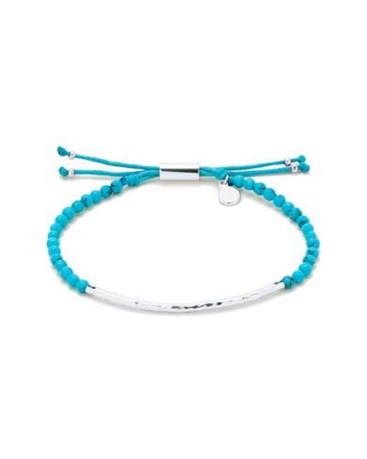 Gorjana | Blue 'power Stone' Semiprecious Stone Bracelet | Lyst