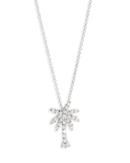 Roberto Coin - Metallic 'tiny Treasures' Palm Tree Diamond Pendant - Lyst