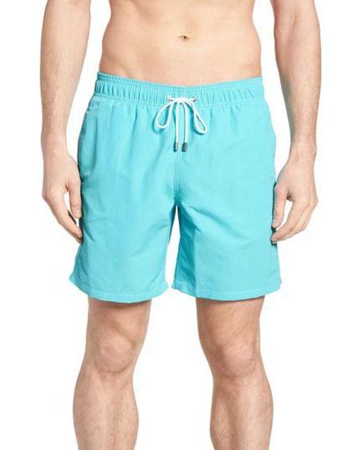 Bugatchi - Blue Swim Trunks for Men - Lyst