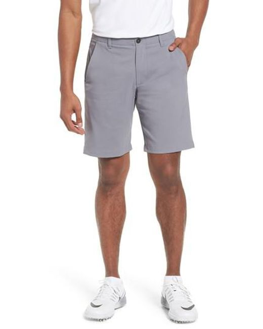 Under Armour - Gray Takeover Regular Fit Golf Shorts for Men - Lyst
