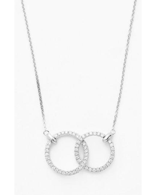 Bony Levy | Metallic Double Diamond Circle Pendant Necklace (nordstrom Exclusive) | Lyst