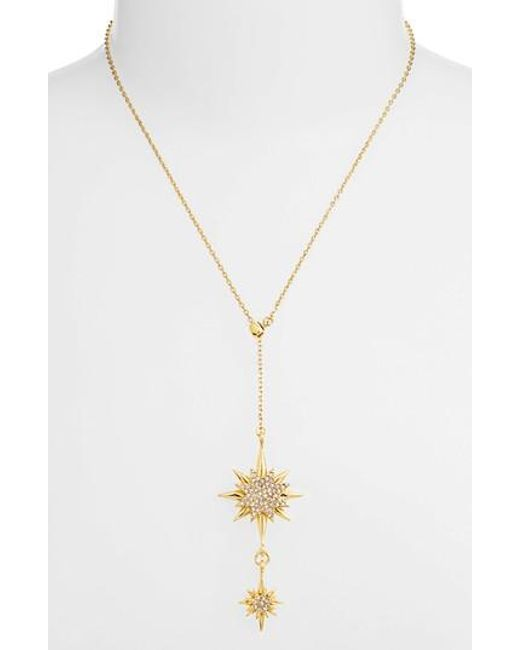 Vince Camuto - Metallic Crystal Starburst Lariat Necklace - Lyst
