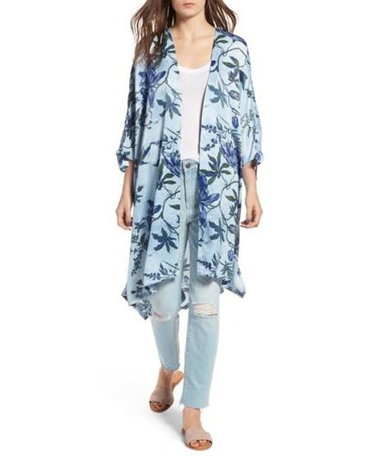 Treasure & Bond - Blue High/low Kimono - Lyst
