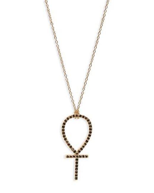 Lyst iconery x rashida jones black diamond ankh pendant necklace iconery metallic x rashida jones black diamond ankh pendant necklace lyst aloadofball Gallery
