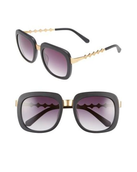 Freida Rothman   Black 'serena' 57mm Square Sunglasses   Lyst