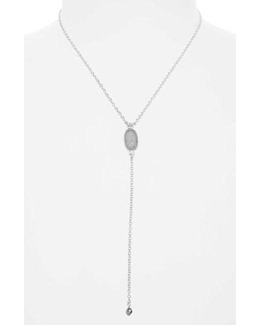 Treasure & Bond | Gray Drusy Y-necklace | Lyst