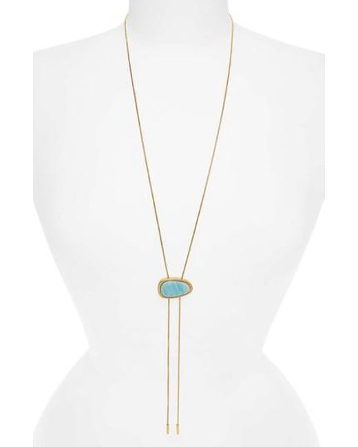 Madewell - Metallic Bolo Necklace - Lyst