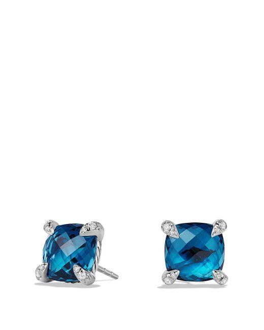 David Yurman - Blue 'chatelaine' Earrings With Semiprecious Stones And Diamonds - Lyst