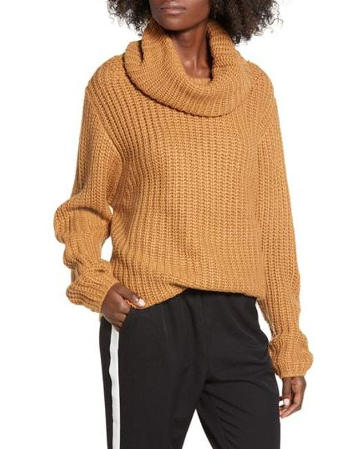bf8fed6b3 Lyst - Leith Oversize Turtleneck Sweater