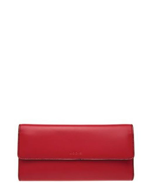 Lodis   Red 'audrey' Checkbook Clutch Wallet   Lyst