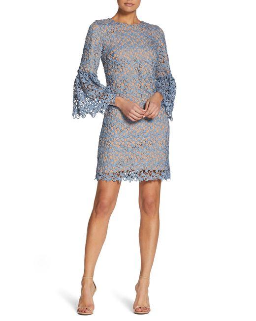 Dress the Population - Black Crochet Shift Dress - Lyst