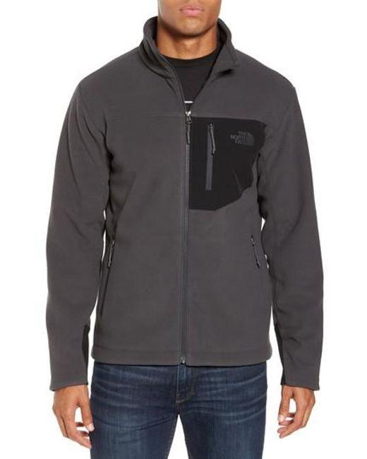 The North Face | Gray 'chimborazo' Zip Front Fleece Jacket for Men | Lyst