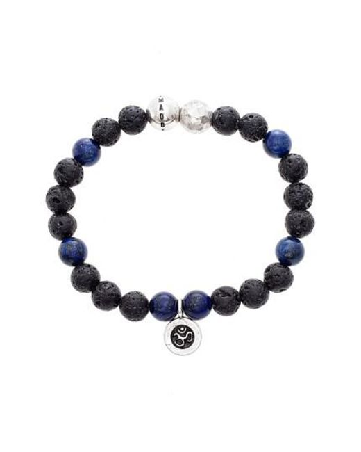 Steve Madden   Blue Lapis Lazuli & Lava Rock Bead Bracelet   Lyst