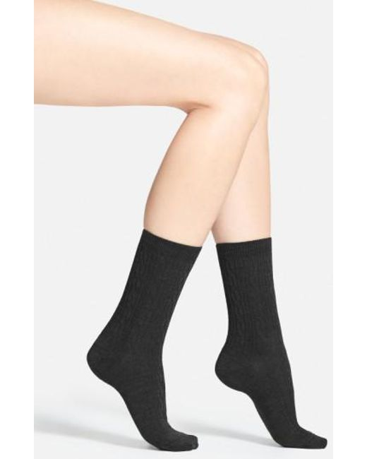 Smartwool - Black 'cable Ii' Crew Socks - Lyst