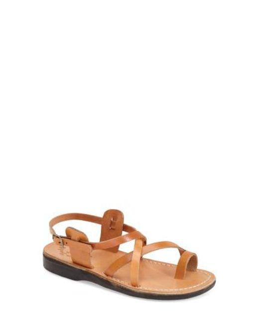 Jerusalem Sandals | Brown The Good Shepard Leather Sandals  | Lyst