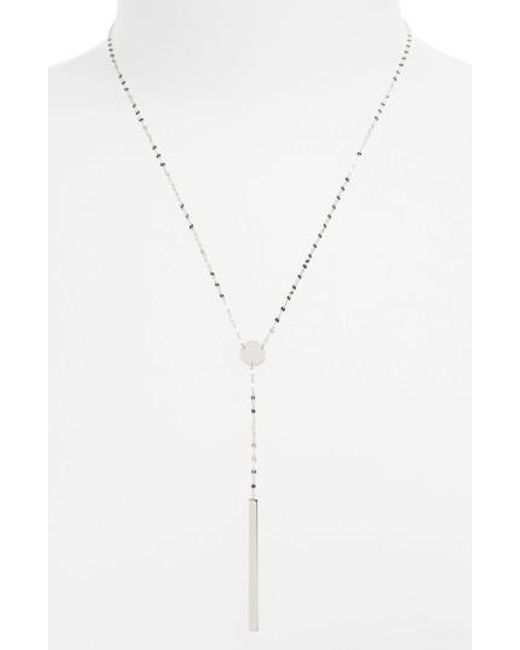 Lana Jewelry | Metallic 'chime' Y-necklace | Lyst