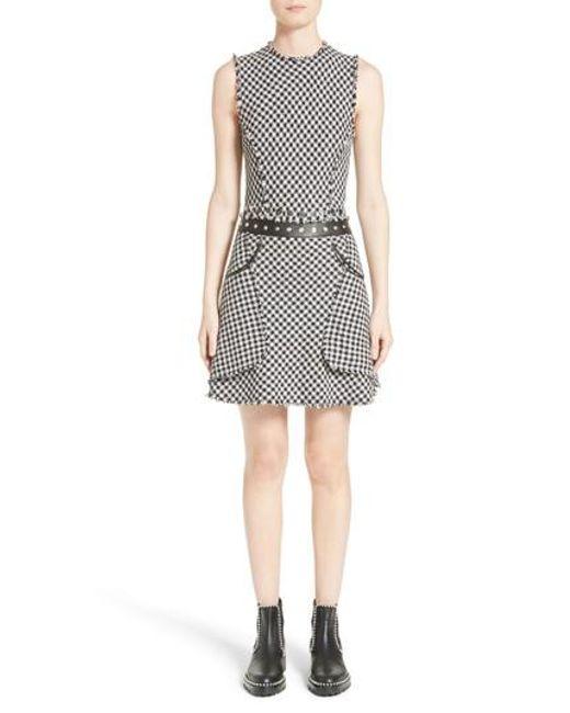 Alexander Wang | Black Check Tweed Dress | Lyst